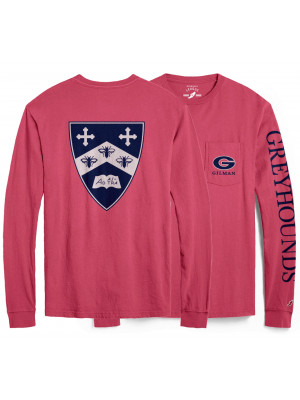 League Pocket T Nantucket Red