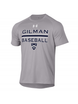 T SHIRT BASEBALL GREY UA S/S