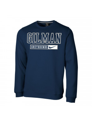CREW NIKE NAVY FLEECE GILM BAR