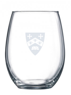 Wine glass with shield in satin frost 15 oz