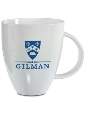 White Lustre Mug Gilman Shield 18 0z