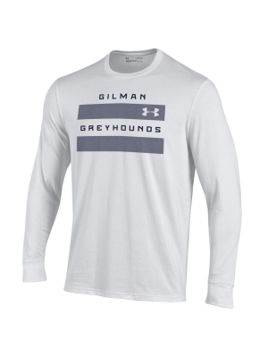T Shirt L/S White Gilman Greyhounds