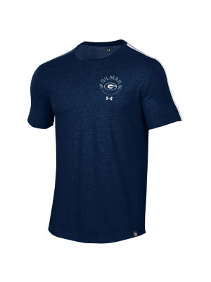 T SHIRT UA NAVY CIRCLE DESIGN