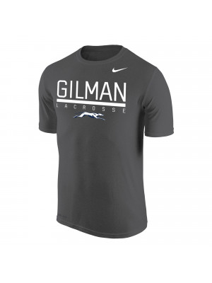 T Shirt Nike Charcoal Heather Lacrosse