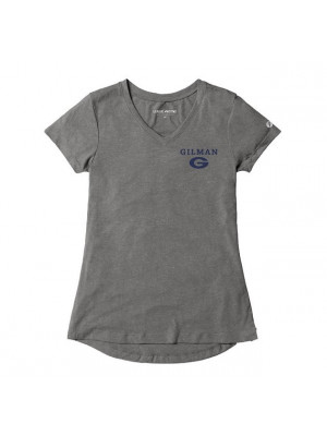 T SHIRT LADIES  V NECK GREY