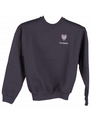 Sweatshirt Navy with Gilman and Crest