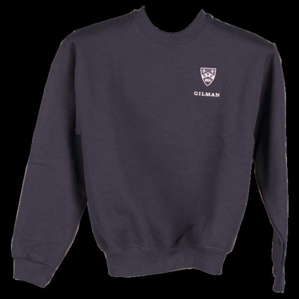 Sweatshirt Navy with Gilman and Crest