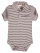 Onesie Polo Blue and White Stripe